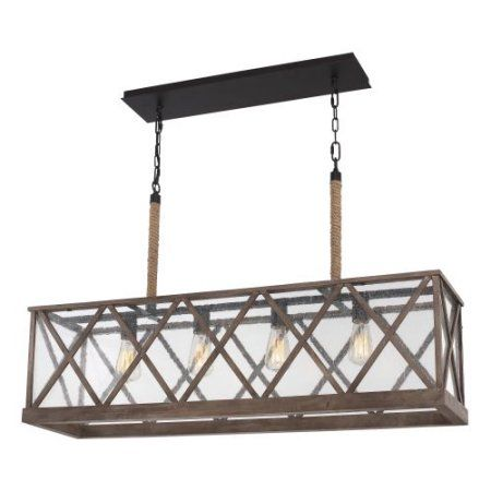 Brushed Aluminum rectangular chandelier