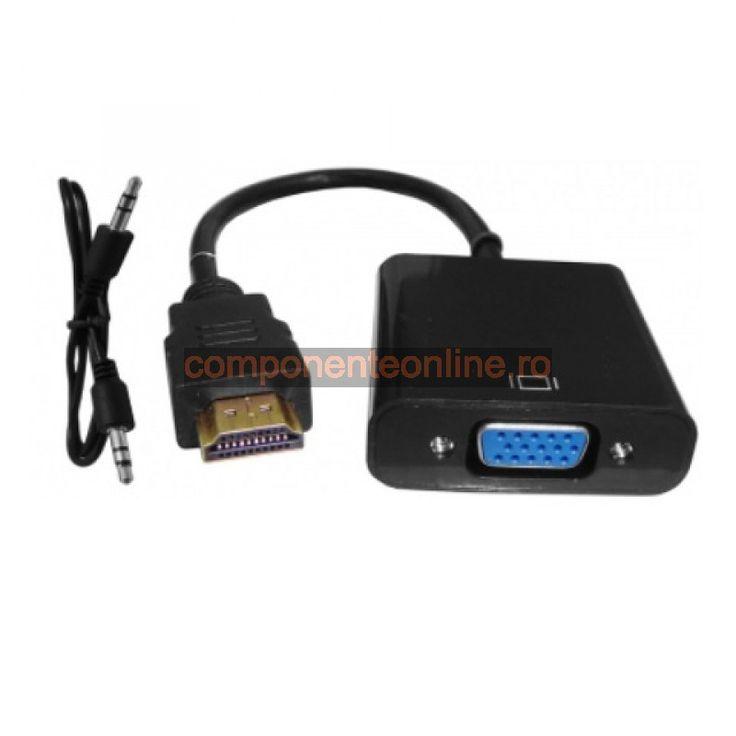 Convertor HDMI - VGA, cu audio - 173619