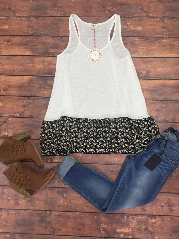Summer Nights Tank paired with some cuffed jeans or capris, booties and you're ready for a fun night.
