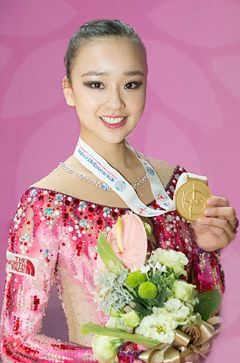 Son Yeon Jae Finished Rhythmic Gymnastics Asian Championships with 3 Gold Medals | Koogle TV