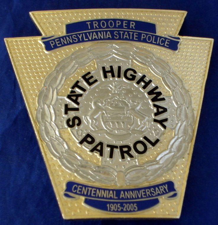 PENNSYLVANIA STATE HIGHWAY PATROL OFFICER CENTENNIAL BADGE FOR SALE