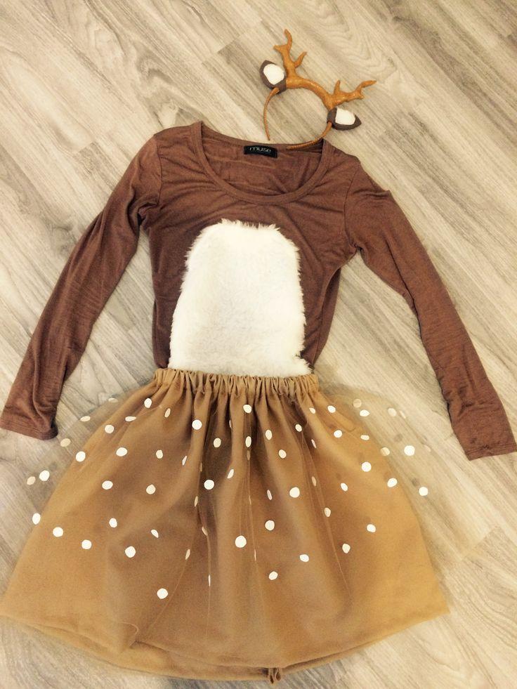 Cute Deer Costume Tutu