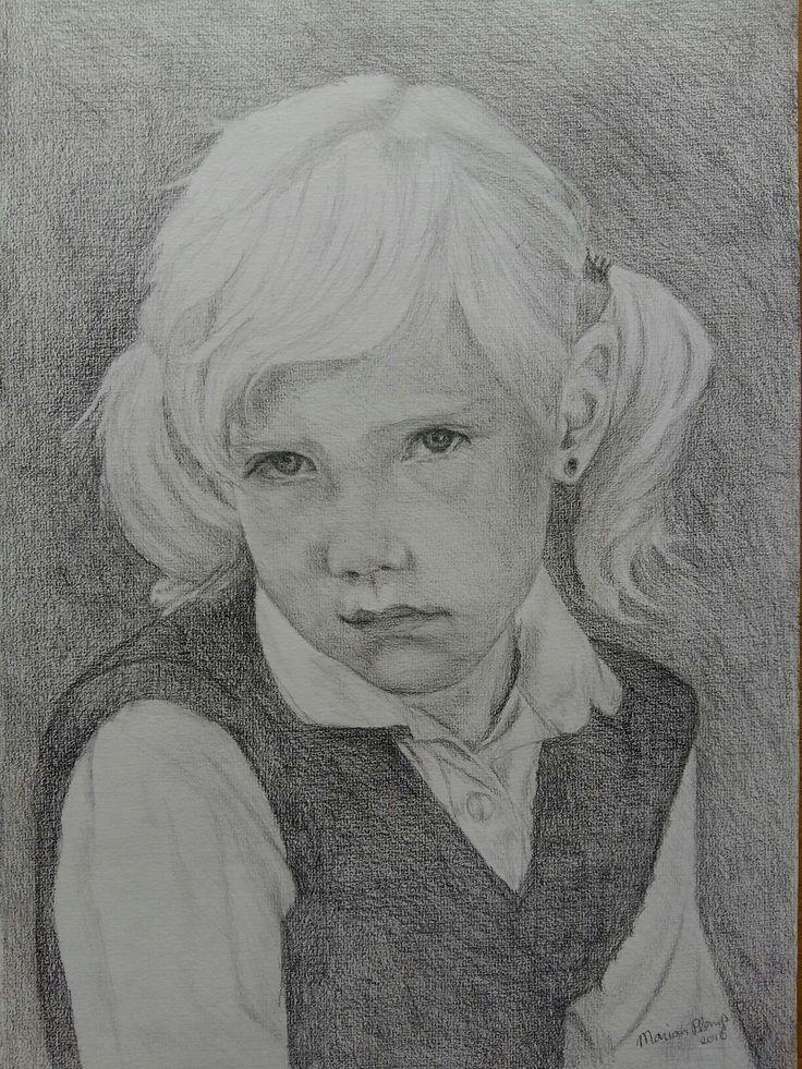 Portret van mezelf als 5 jarig meisje. www.marianplomp.nl