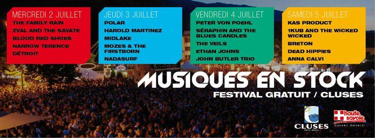 Festival Musiques en Stock, Cluses, France.