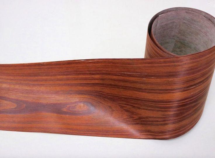 Longueur: 2-2.5 Mètres/Roll Épaisseur: 0.25mm Largeur: 16 cm Or Rose Naturel Palissandre placage