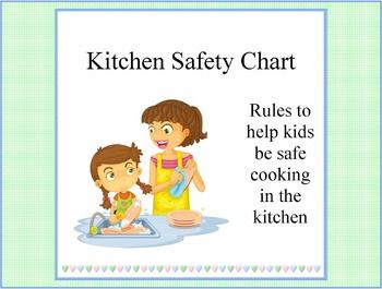 Help kids visualize and read kitchen safety rules for all for 8 kitchen safety rules