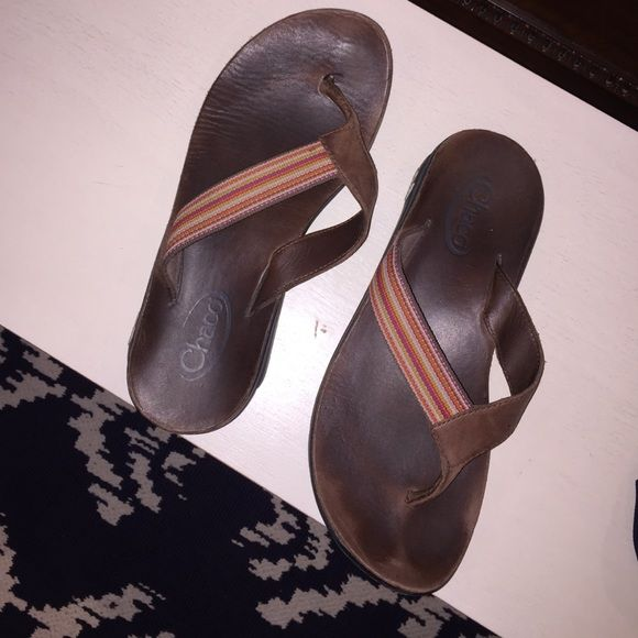 Chaco flip flops Leather great condition Chacos Shoes