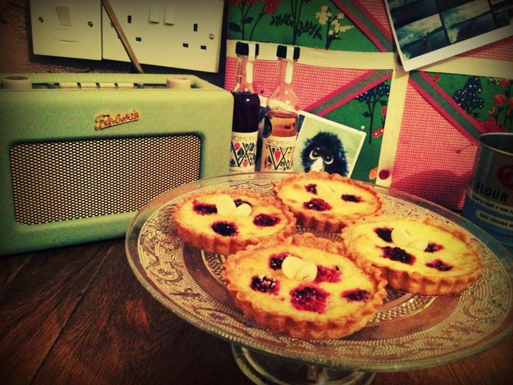 Rosemary, blackberry and almond tarts