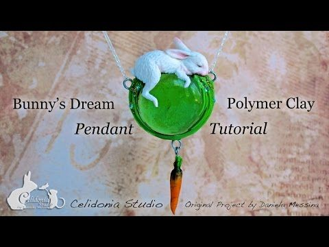 Polymer Clay Tutorial - Bunny Dream Pendant - YouTube