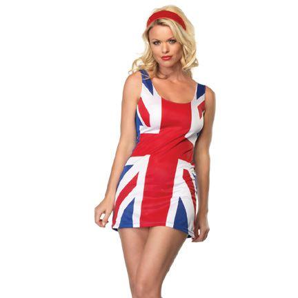 British Flag Sequin Dress Spice Girls costume Wore as ...  Ginger Spice British Dress