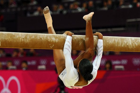 Scary moment but Gabby was unhurt: Gabrielle Douglas of the United States falls off the beam during the Artistic Gymnastics Women's Beam final on Day 11 of the London 2012 Olympic Games at North Greenwich Arena on August 7, 2012 in London, England.