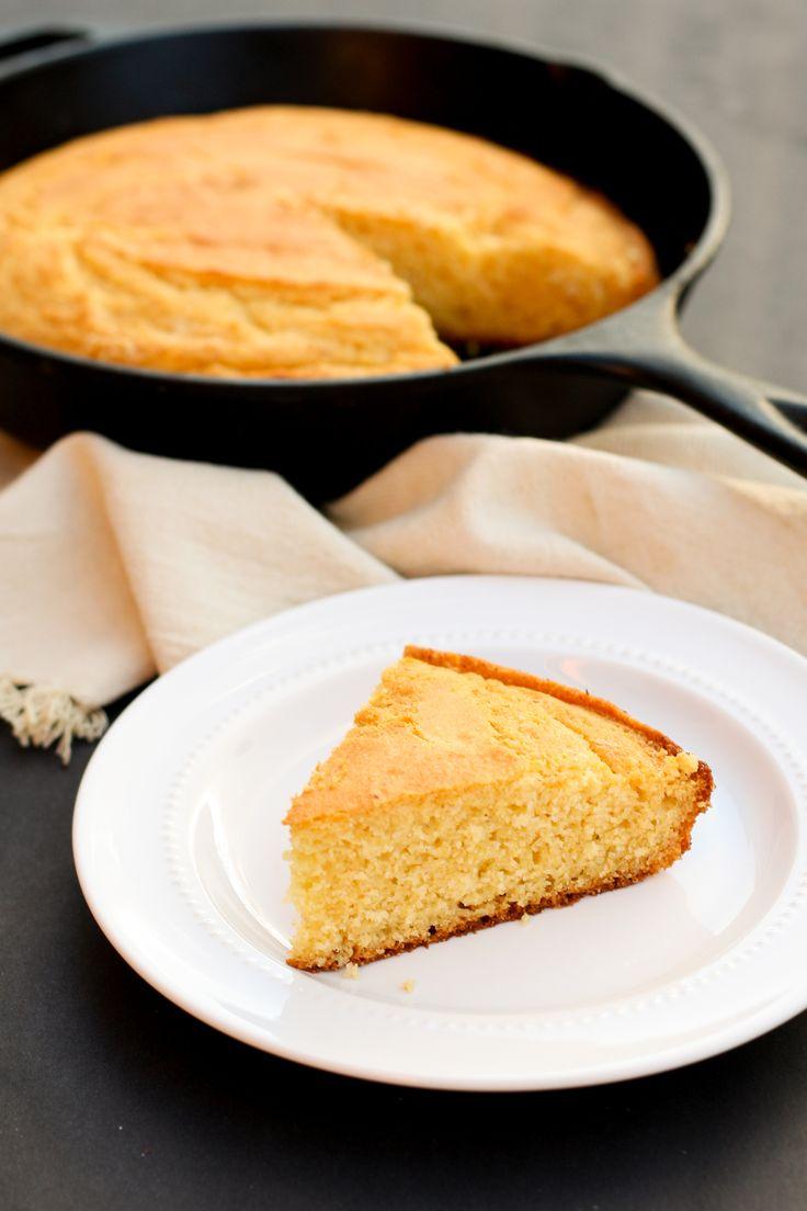 Gluten-Free Honey Cornbread | Sweet gluten-free cornbread with chewy buttery edges baked in a cast-iron-skillet.