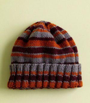 Yarn Companies Free Knitting Patterns : Free Knitting Pattern L0514 House Colors Hat : Lion Brand Yarn Company reci...