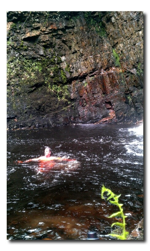 River skinny dipping nude girl