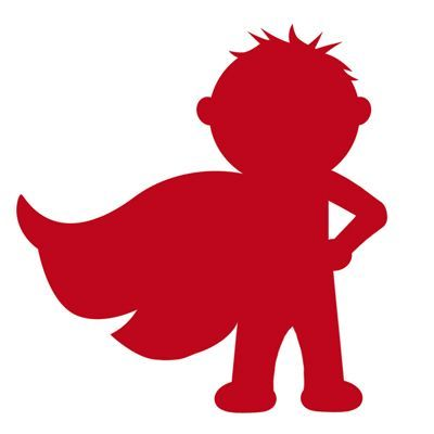 Superhero silhouette of little boy with cape. Links to Knox's birthday ...