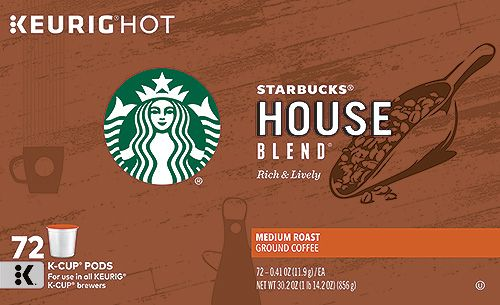 $6 OFF LIMIT 5. Starbucks® House Blend K-Cup® Pods 72 ct.  Item 1888755.  Valid  Sep 29 - October 23, 2016. Medium Roast.  Item 1888755.  K-Cup® Pods for use in Keurig® Brewing Systems. Shop Costco.com for special offers and an expanded selection. Terms and Conditions apply.