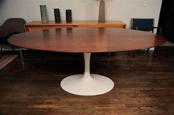 ≥ Ovale Saarinen tafel, Amerikaans noten blad. - Tafels | Eettafels - Marktplaats.nl