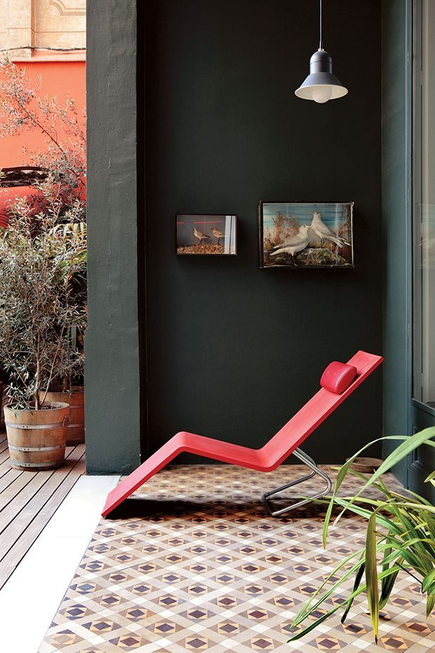 "madabout-garden-design: "" Contemporary outdoor decor: modern style with retro accents """