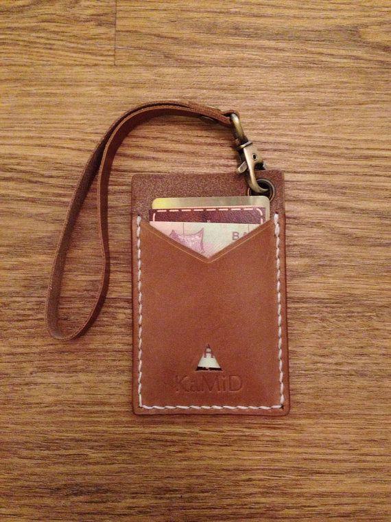 Handmade Leather Credit Card Holder Men's Wallet Sleeve / Key Holder