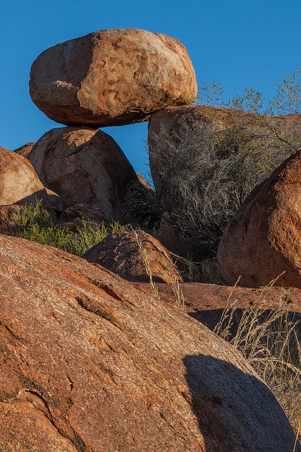 Dev The Devils Marbles in the central Australian desert of the Northern Territory.