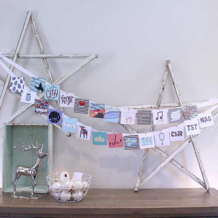 'Joy Cards' Advent Calendar http://persimmonprints.com/products/joy-cards-advent-calendar