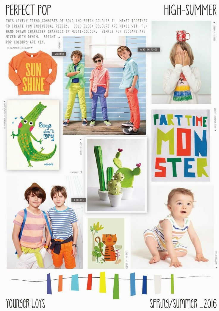 Spring/Summer 2016 - Younger Boys Fashion - Perfect Pop Trend