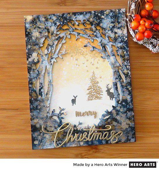 Hero Arts Holiday Cardmaking Challenge Winner (Cris G.)