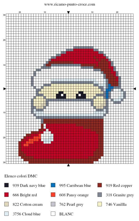 Christmas perler bead pattern