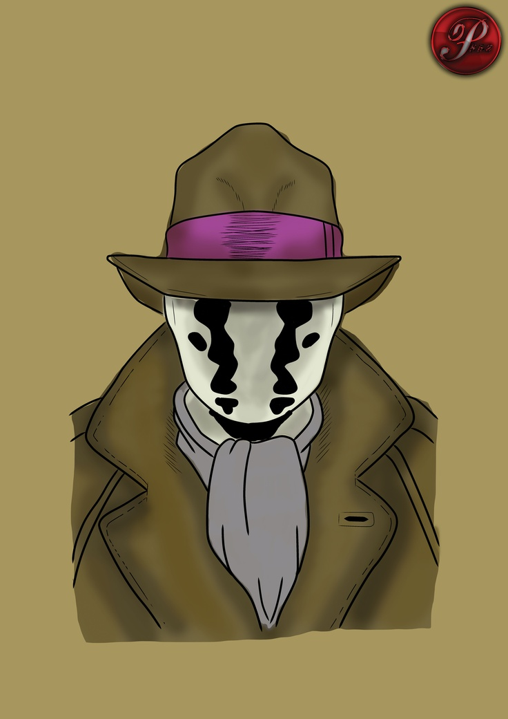 quick colour photoshop sketch of a watchmen character