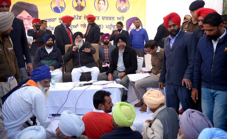 CM Parkash Singh Badal addressed a huge gathering during Sangat Darshan program in Bucho Mandi assembly segment yesterday and said that river water was the only natural resource of the state and there was no question of sharing it with any other state as we were not having a single drop of excess water. #AkaliDal #ProgressivePunjab