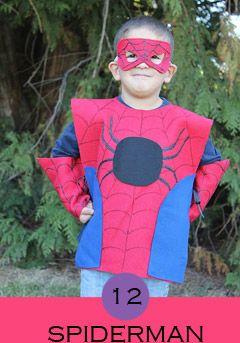 Costume-da-spiderman, costumi carnevale fai da te, costumi super eroi fai da te, costumi fai da te bambini,