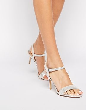 Dune Mallorie Silver Heeled Sandals