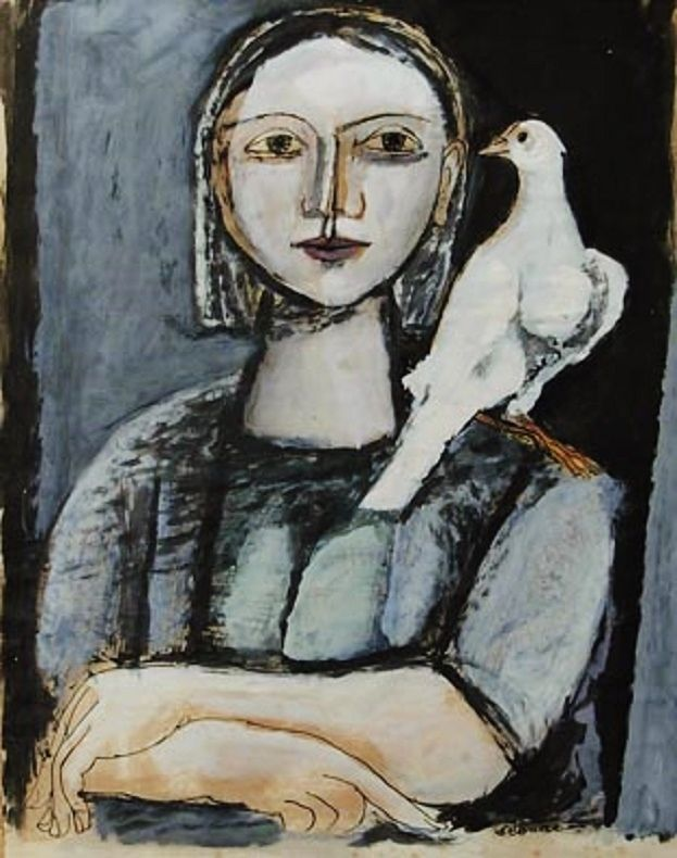 Mujer con Paloma : Luis Seoane