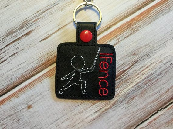 Fencing Keychain  Fencing Sword Keychain  Fencer Keychain