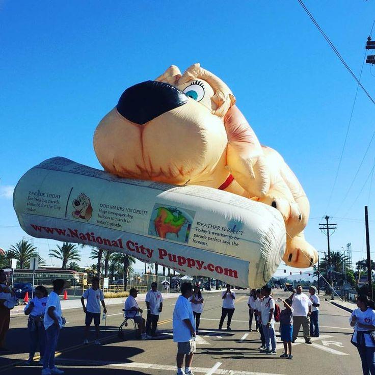 Opblaasbare hond parade ballon uit Amerika