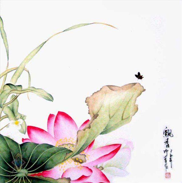 Ароматный Лотос :: Лин Жуинг - Китай традиционная живопись Гохуа