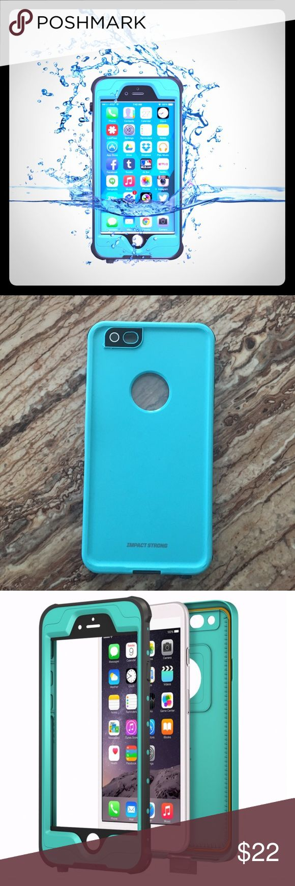 Impact Strong Waterproof iPhone 6 Plus case Fingerprint ID compatible. Waterproof so you can take photos under water or great if you work outdoors. Barely used. My daughter used for a week or two then got the iPhone 7. Very similar to the Lifeproof case. Accessories Phone Cases