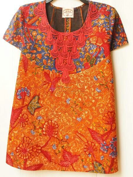 Blouse batik lasem berenda