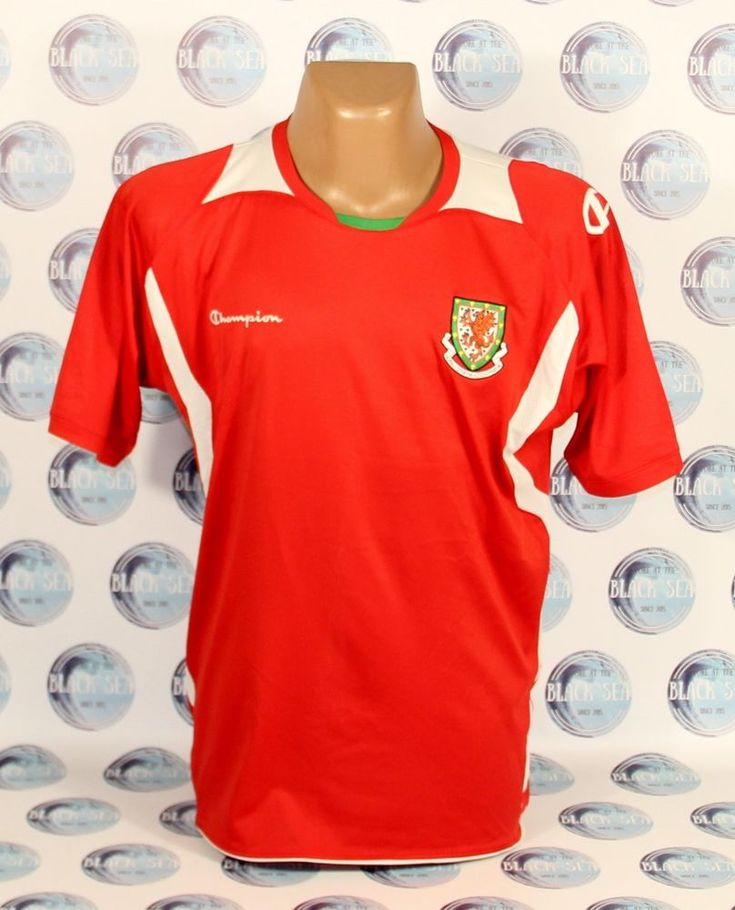 WALES NATIONAL TEAM 2008 2010 HOME FOOTBALL SOCCER SHIRT JERSEY MAILLOT CHAMPION #Champion #WALES