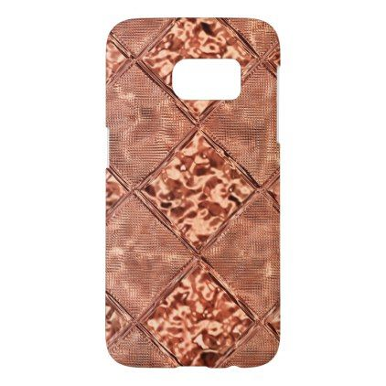 Rose Gold Foil Samsung Galaxy S7 Case - foil leaf gift idea special template