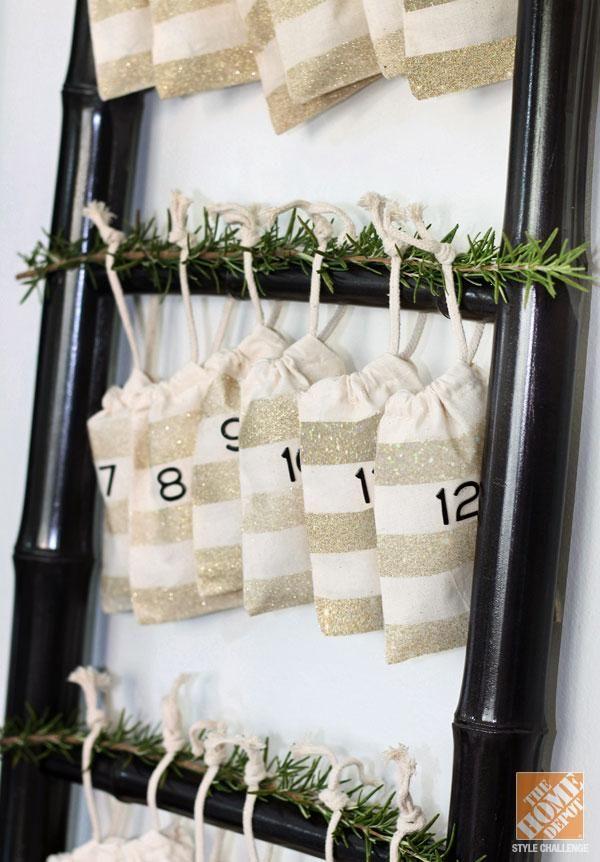 DIY Canvas Bag Advent Calendar