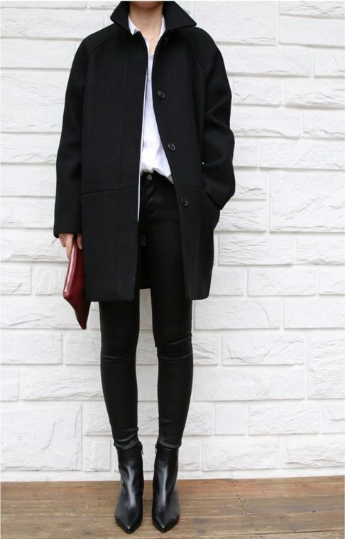 Skinny jeans with high waistband and classic color …