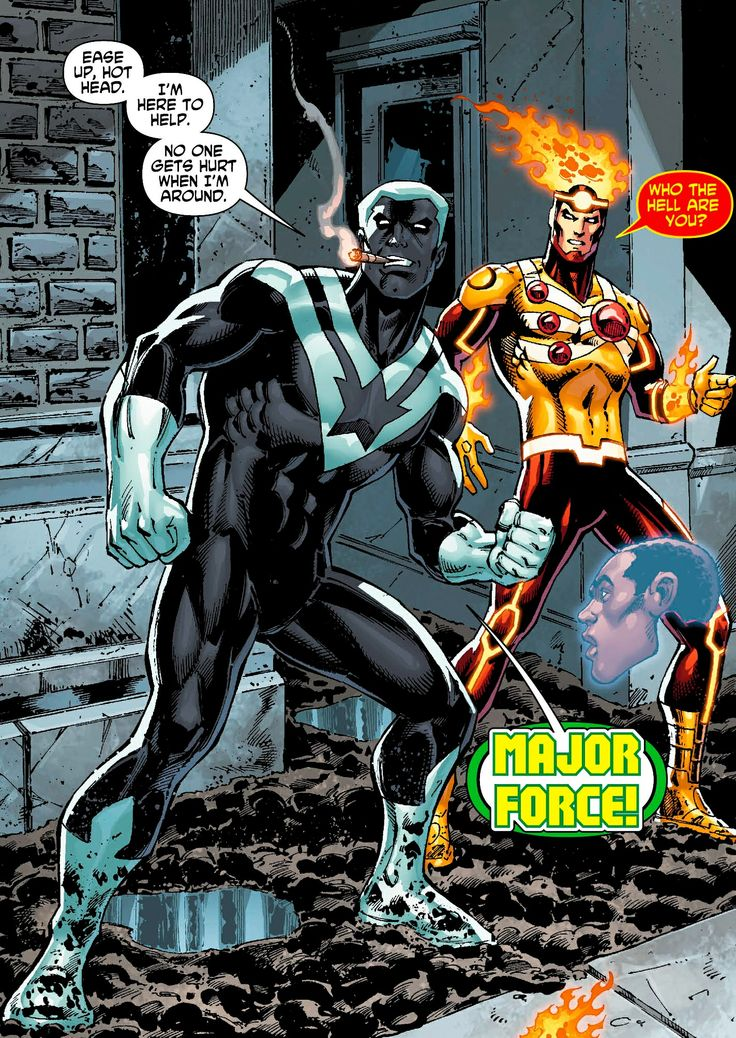 The New 52 Major Force And Firestorm Dc Graphics