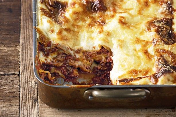 If you're looking for the ultimate traditional lasagne, this is it. It's brimming with three cheeses, fresh herbs and a rich beef ragu.