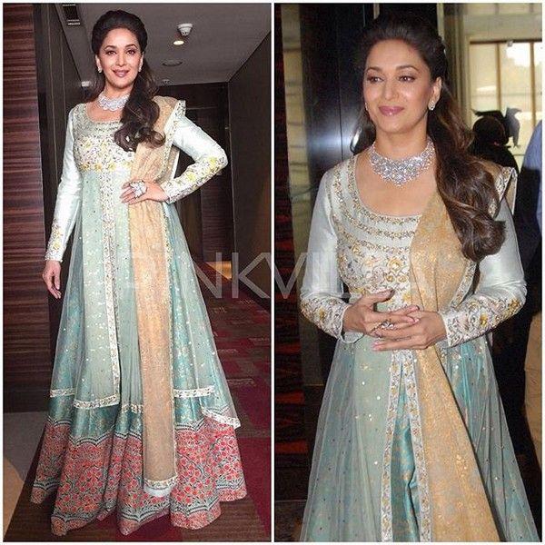 Madhuri Dixit in Anju Modi , bridal wear , Indian designer wear