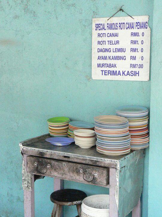 Georgetown, Penang.  Street food.
