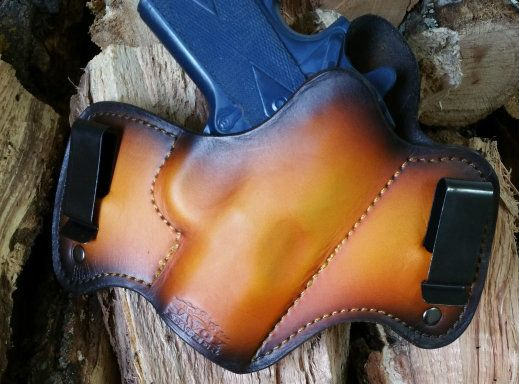 Hand molded to your specific gun model, our IWB concealed carry holsters are custom made in the USA. Carry in comfort and style with our leather holsters.