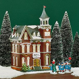 """Department 56: Products - """"Brighton School"""" - View Lighted Buildings  Wish list"""