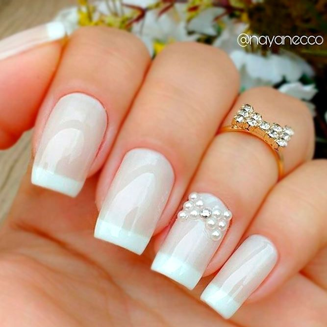 Beautiful White Tip Nails Designs Specially for You ★ See more: https://naildesignsjournal.com/white-tip-nails-designs/ #nails