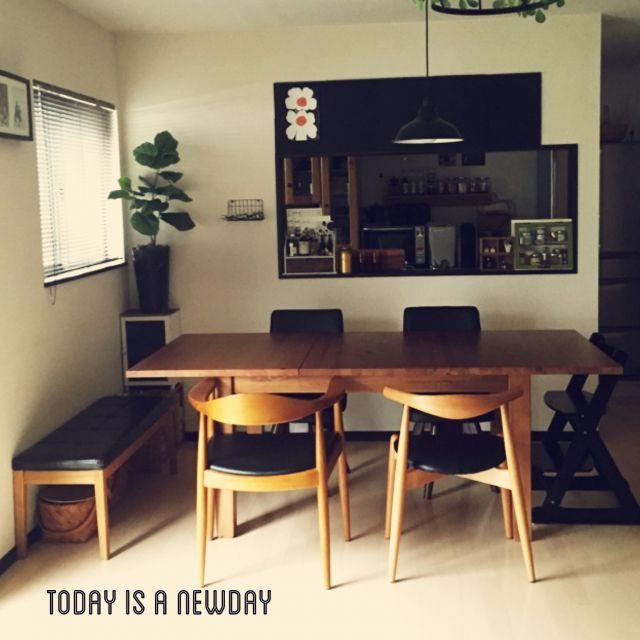 おうちカフェ/黒板/ウェグナー/ダイニングテーブル/ダイニング/セリア…などのインテリア実例 - 2015-02-19 12:17:15 | RoomClip(ルームクリップ)